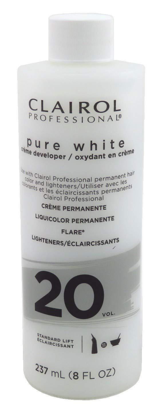 Clairol Professional Pure White 20vol Crème Developer, 8 oz