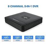 Hiseeu 8CH CCTV DVR Mini DVR AHD CVI TVI CVBS IP 5 IN 1 DVR Recorders For CCTV Kit VGA HDMI Security System Mini NVR For 16CH 1080P IP Camera Onvif PTZ NVR H.264 XMEYE APP Support 6T HDD