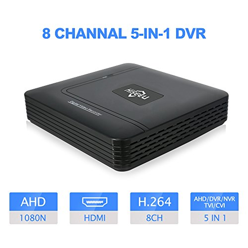 Hiseeu 8CH CCTV DVR Mini DVR AHD CVI TVI CVBS IP 5 IN 1 DVR Recorders For CCTV Kit VGA HDMI Security System Mini NVR For 16CH 1080P IP Camera Onvif PTZ NVR H.264 XMEYE APP Support 6T HDD by HisEEu