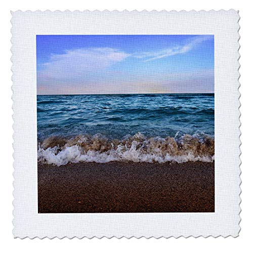 3Drose Tory Anne Collections Photography   Miami Beach Blue Water Waves   22X22 Inch Quilt Square  Qs 288476 9