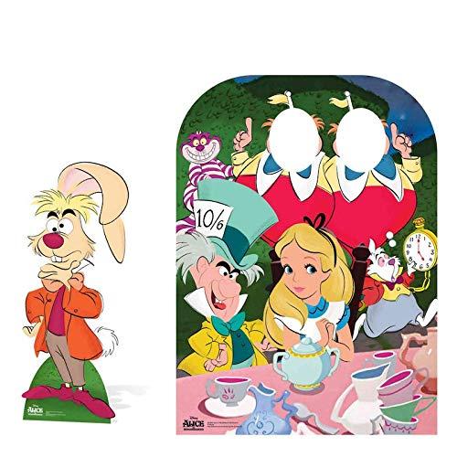 Cartone 131/x 95/x 131/cm Disney Alice nel Paese delle Meraviglie Tea Party Bambino a Doppio Taglio out