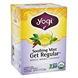 Pack of 1 x Yogi Tea Get Regular - Soothing Mint - Caffeine Free - 16 Tea Bags