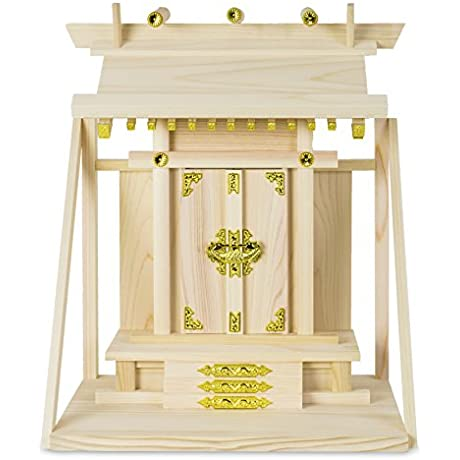 Domestic Cypress Altar Shelf Backed Temple Luck 122102