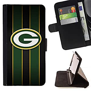 DEVIL CASE - FOR Samsung ALPHA G850 - Green Bay Packer Hockey - Style PU Leather Case Wallet Flip Stand Flap Closure Cover