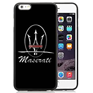 Easy Set,Customized Iphone 6 Plus Case Design with Maserati Logo Iphone 6 Plus TPU 5.5 Inch Black Cell Phone Case
