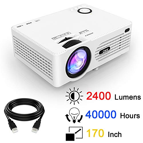 QKK Projector, Video Projector with 170 Inch and 1080P Support, Compatible...