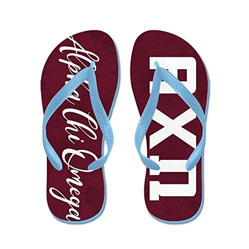CafePress Alpha Chi Omega - Flip Flops, Funny Thong Sandals, Beach Sandals Caribbean Blue
