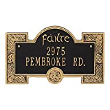 Whitehall Personalized Indoor/Outdoor Irish Cead Mile Failte Plaque Sign featuring The Gaelic Welcome, A Hundred Thousand Welcomes (Black Gold)