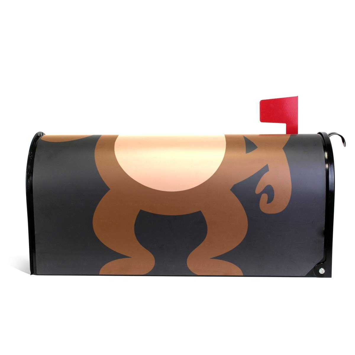 Ladninag Mailbox Covers Magnetic Cute Monkey with Banana Standard