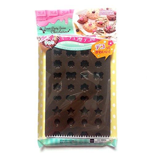 Daiso Japan Silicone Mini Chocolate Jello Mold (Brown)