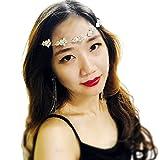 Bridal Flower Leaf Side Chain Headpiece : SP11 (SF)