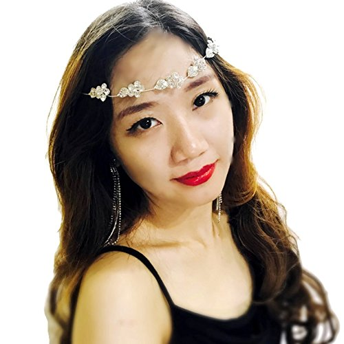 Price comparison product image Bridal Flower Leaf Side Chain Headpiece : SP11 (SF)
