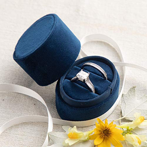Diy Ring Box (Velvet Ring Box Navy Blue, Engagement Ring Box, Ring Bearer Box, Wedding Ring Box, Wedding Photo Shoot, Engagement Photo Shoot, Bridal)