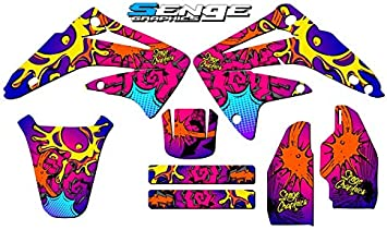 Senge Graphics Kit Compatible with Honda 2003-2013 CR 85 Zany Pink Graphics kit