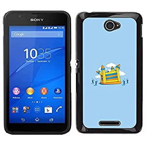For Sony Xperia E4 , S-type® Painting Children Playground - Arte & diseño plástico duro Fundas Cover Cubre Hard Case Cover