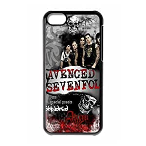 Hard Plastic Protective Case Cover with A7X Avenged Sevenfold Fits for iPhone 5C-Black031301