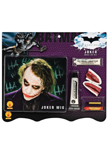 [Deluxe Joker Wig & Make-Up Kit Costume Accessory] (Joker Costumes Kids)