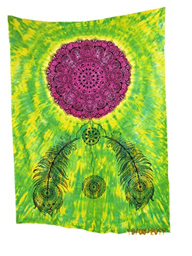 Elephant Tapestry Small Hippie Mandala Wall Hanging Tapestries Tie Dye Decorative Tablecloth Perfect Christmas Home Decor Art College Dorm Cover Yoga Mat Viskar Fab Tex