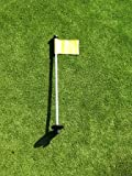 Golf - Putting Green - (1) 30'' Practice Green Pin Marker w/ Easy Grab Knob and Ball Lifter Disk + (1) Solid YELLOW Colored Jr Flag Included