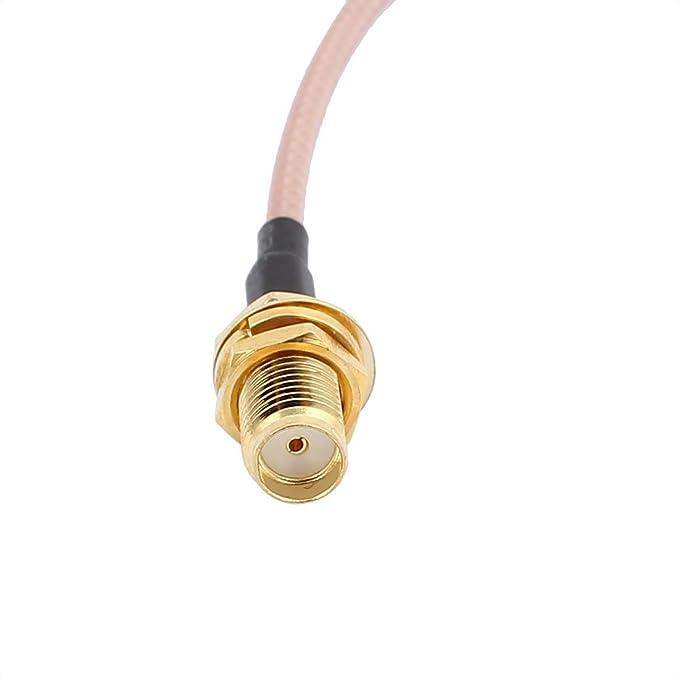 Amazon.com: eDealMax 2PCS RG316 de soldadura de alambre SMA-K Antena WiFi Pigtail Cable 15cm: Electronics