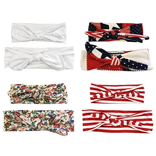 [Wrapables Mommy and Me Boho Headband, Red/White/Blue] (Matching Costumes For Mom And Baby)
