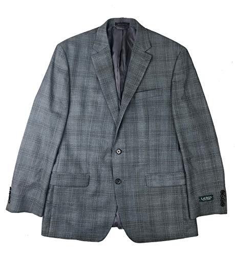 LAUREN RALPH LAUREN Men's Classic-Fit Plaid Ultraflex Sport Coat (Grey, 42 R)
