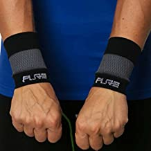 Elite Compression Wrist Support (Pair) - Wrist Sleeves to Relieve Carpal Tunnel, Wrist Pain, Wrist Brace (Black/Grey, M)