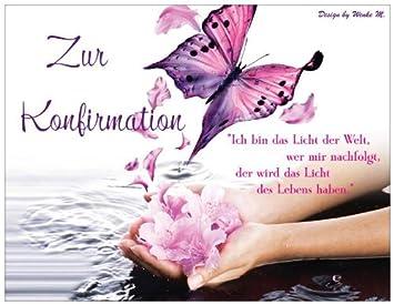 Spruch Konfirmation Karte.Konfirmationskarte Konfirmation Wasser Schmetterling