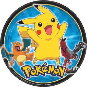 (American Greetings Pokemon Round Plate (8 Count),)
