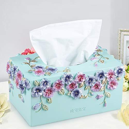 DDOQ Tissue Box Garten Harz Papier Box Mode Papier Box Papiertuch Rohr (Farbe  Gelb) (Farbe   Weiß) B07M8M4XP4 Toilettenpapieraufbewahrung
