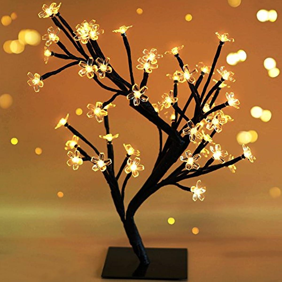Lighting Strings 48 Led Battery Powered Plum Blossom Potted Plant Tree Light Christmas Day Decoration Night Light