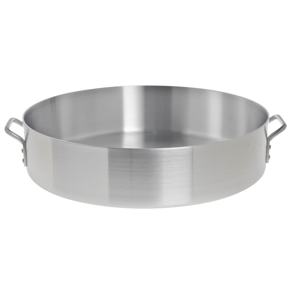 HUBERT Brazier Pan 40 Quart Aluminum - 23 3/5''Dia x 5 1/2''D by HUBERT