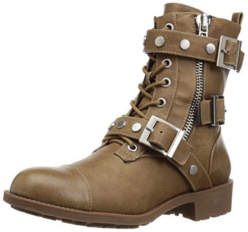 Style by Charles David Women's Caden Motorcycle Boot, Taupe, 6 Medium US