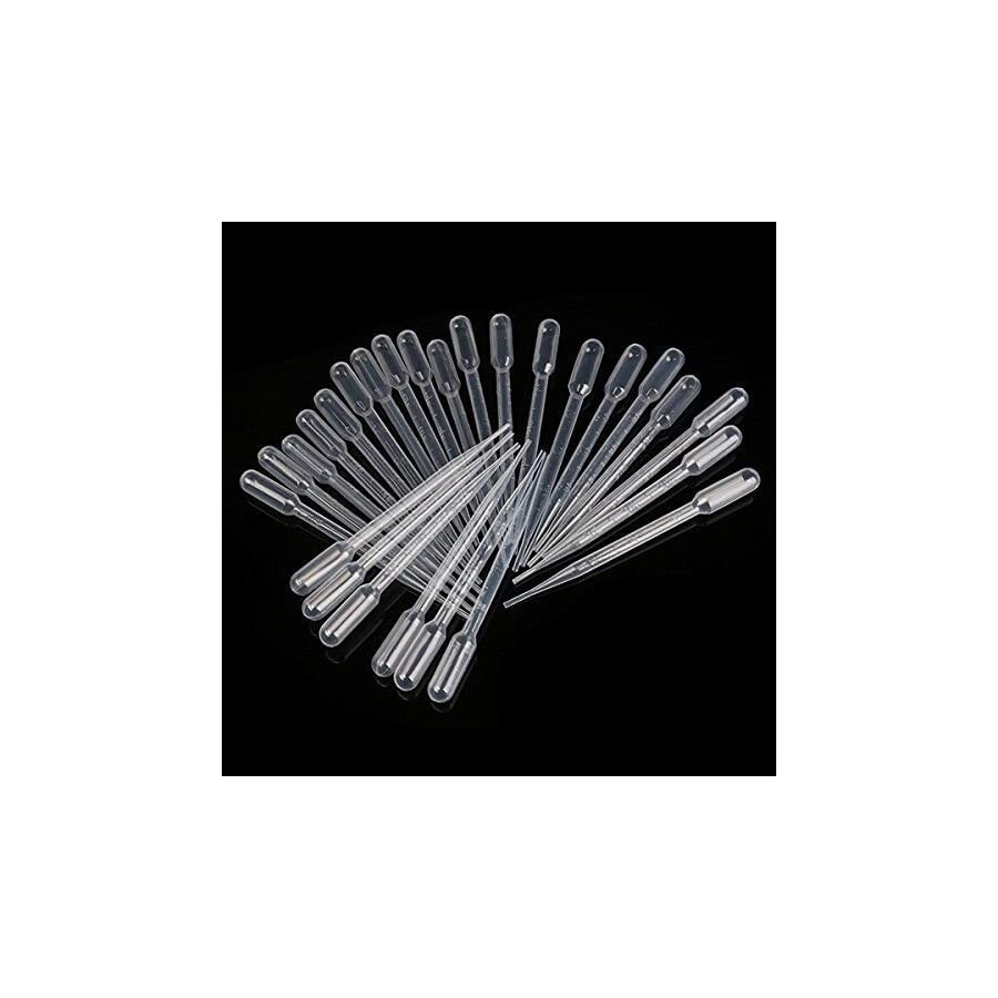 Basic Essential Bottles 100pcs 3ml Disposable Graduated Plastic Transfer Pipettes