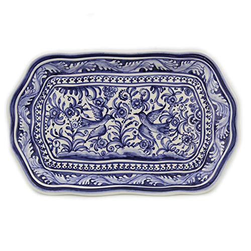 Madeira House Coimbra Ceramics Hand-Painted Decorative Tray XVII Century Replica #249-2