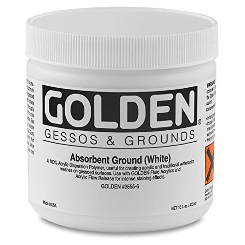 Golden Acrylic Ground - Golden Artist Colors 16 oz Absorbent Ground (White)