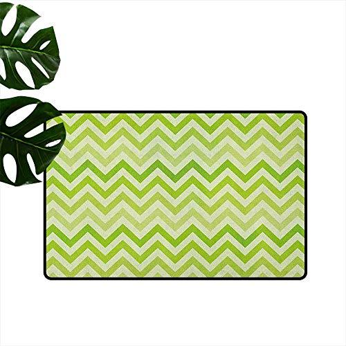 (RenteriaDecor Lime Green,American Floor mats Chevron Traditional Zig Zag Pattern with Symmetric Lines Tribal Modern Pattern 18