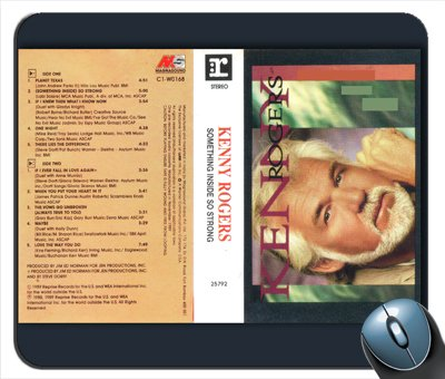 Kenny Rogers - Something Inside So Strong Cassette Cover Mouse Pad