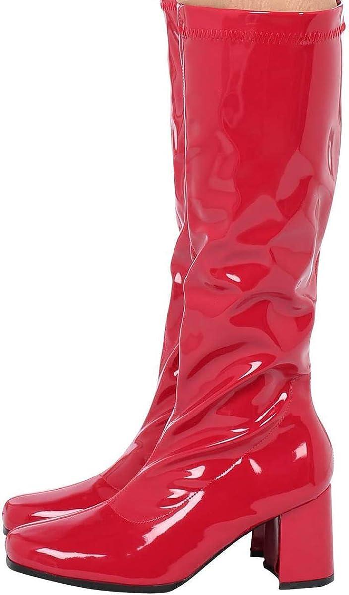 Chaussures de d/éguisement pour Femme avec Fermeture /éclair dans des Couleurs Vernies /à Talons mi-Blocs 2,5 cm