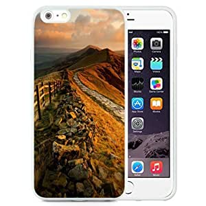 Fashionable Custom Designed HTC One M7 Phone Case With Mountain Rock Trail Sunset_White Phone Case