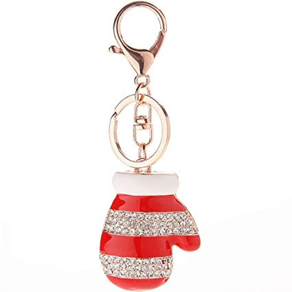 ISAAC ENGLAND Cute Mini Guantes de Navidad Colgante Llavero ...