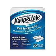Kaopectate Multi-Symptom Anti-Diarrheal& Upset Stomach Reliever, 28 Caplets, White