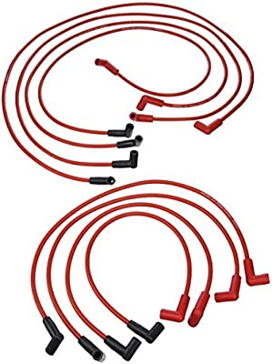 Pertronix 808419 Flame-Thrower Red Custom Fit 8mm 8 Cylinder Spark Plug Wire