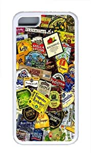 Beer Labels TPU Silicone Case Cover for iPhone 5C White wangjiang maoyi