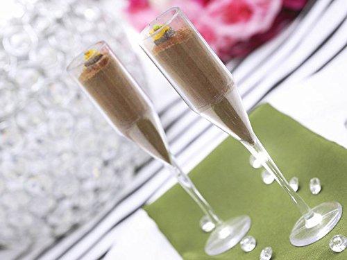 60 Pcs Disposable Plastic Mini Champagne Flutes-Clear (Mini Champagne Flutes compare prices)
