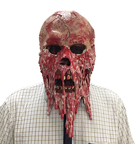 DylunSky Halloween Mask Zombie Scary Bloody Skull Latex Mask