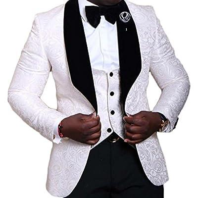 AK Beauty Men's Three Piece Wedding Prom Tuxedo Suit for sale