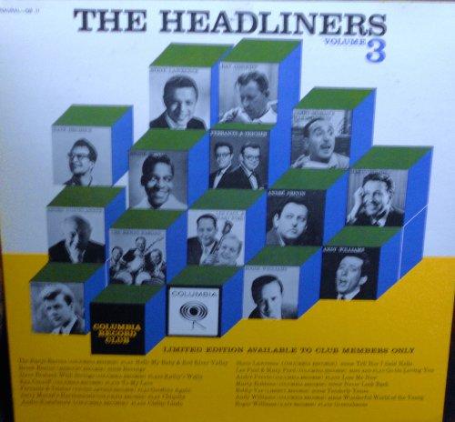 The Headliners Volume 3 Original Columbia Record Club Exclisuive GB 11 1960's Easy Listening Vinyl (1962) (1960 Headliner)