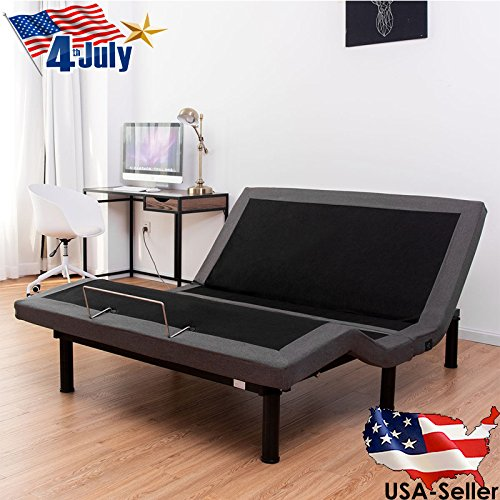Queen Electric Bed Frame Power Adjustable Base Massage Zero Gravity Remote USB + Remote
