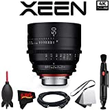 Rokinon Xeen 50mm T1.5 Lens for PL Mount with Professional Accessory Kit